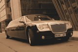 Limuzinu nuoma  3.CHRYSLER 300 C    10 seats  It's a particular, expressive and aristocratic appearance. The interior is shapely and considered in detail, the cabin is cosy. The perfect appearance is both from exterior and interior.