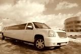 Limuzinu nuoma    4. GMS YUKON          20seats                 Magnificent view, exclusive and cosy interior, it attracts the attention of surrounding people and charms them. This is a limousine, which has its own exclusive style, which will not leave anybody indifferent.
